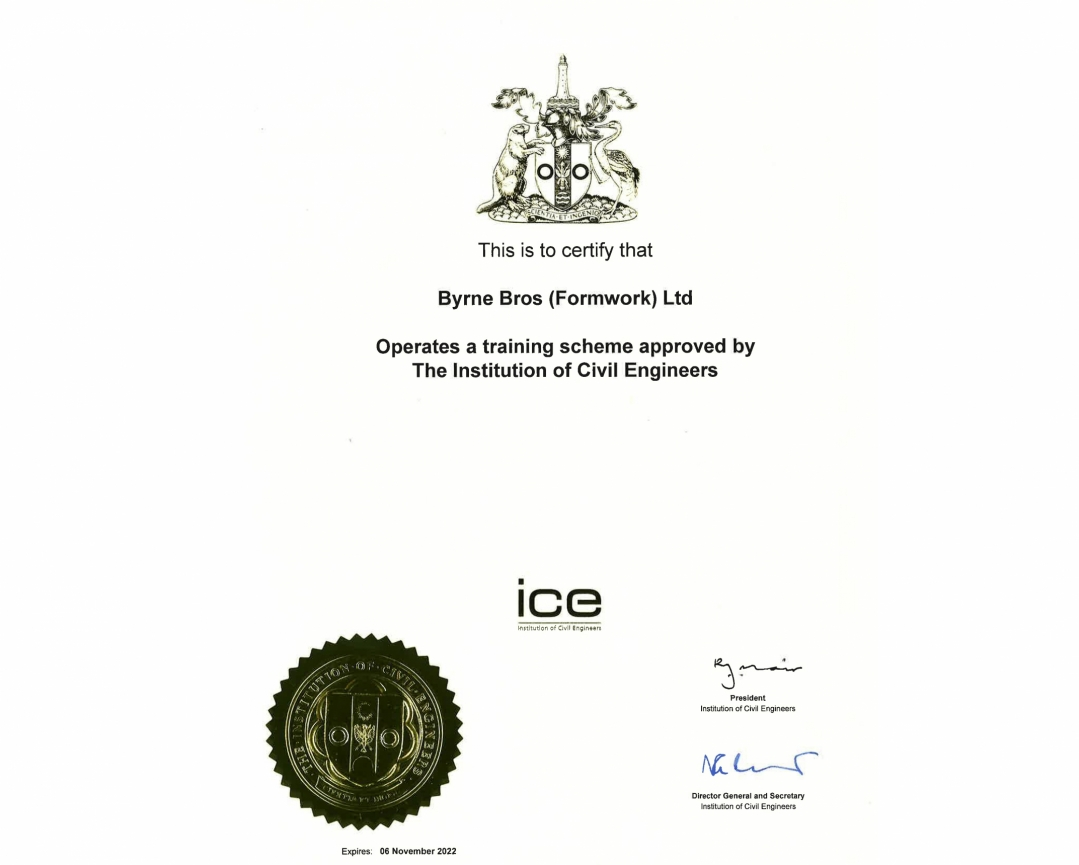 The Institution Of Civil Engineers Training Scheme Certification